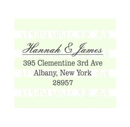 Return Address Elegant  Stamp