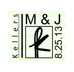 Custom Wedding Initial and Date Monogram Stamp