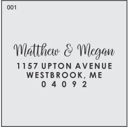 Modern Monogram Custom Return Address Stamp