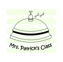 Custom Teacher School Bell Property Stamp