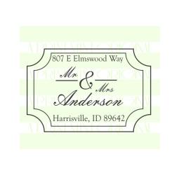 Mr and Mrs Wedding Return Address  Stamp