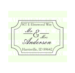 Mr and Mrs Wedding Return Address  Stamp