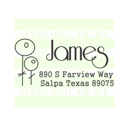 Custom Flower Name Return Address Stamp