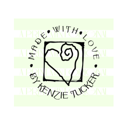 Custom Made With Love By Heart Stamp