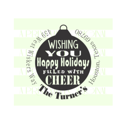 Holiday Cheer Christmas Return Address Stamp