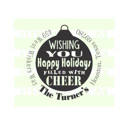 Holiday Cheer Christmas Return Address Stamp