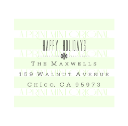 Happy Holidays  Return Address Stamp with Snowflake Stamp