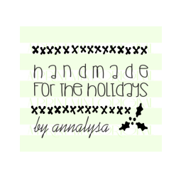 Handmade for the Holidays Cross Stitch Custom  Stamp