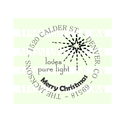 Christmas Star Return Address Stamp- Personalized Family Stamp