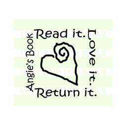 Custom Heart Book Stamp - This Book Belongs To Stamp