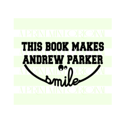 Smile Book Stamp- This Book Belongs To Custom Stamp