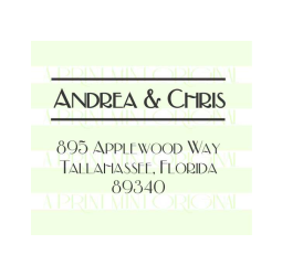 Name's Return Address Wedding Monogram Stamp