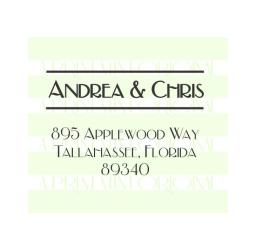 Name's Return Address Wedding Monogram Stamp