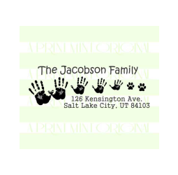 Custom Return Address Stamp  Family Hand Stamp