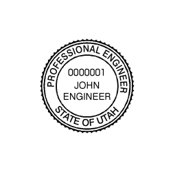 Utah Professional Engineer Seal Stamp