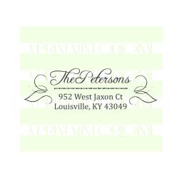 Calligraphy Wedding Return Address  with a Swirl Stamp