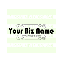 Custom Business Card Logo- Etsy Shop Stamp