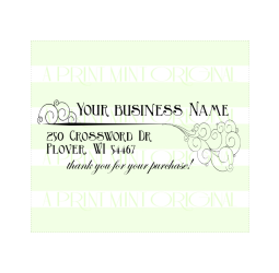 Whimsical Business Card Stamp- Etsy Shop Stamp