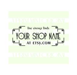 Custom Business Stamp Vintage Style Logo Stamp