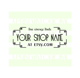 Custom Business Stamp Vintage Style Logo Stamp