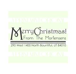 Custom Merry Christmas Return Address Envelope Stamp