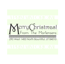 Custom Merry Christmas Return Address Envelope Stamp