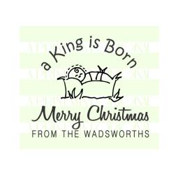 Custom Baby Jesus Family Christmas  Address Stamp