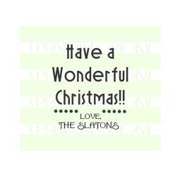 Custom Family Christmas Label Ornament Stamp