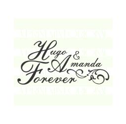 Custom Wedding Stamp, Bride and Groom Name Stamp