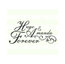 Custom Wedding Stamp, Bride and Groom Name Stamp