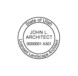 Utah  Landscape Architect Seal