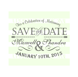 Wedding Invitation Stamp- SAVE-THE-DATE Wedding Stamp