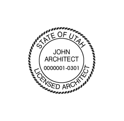 Utah Architect Seal