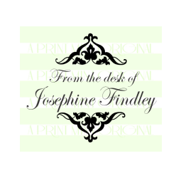 Custom Elegant From The Desk Of or Self-inking or Rubber Stamp