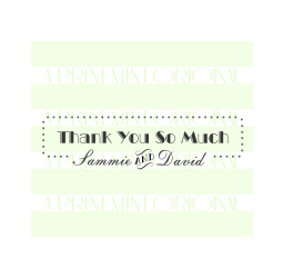 Custom Name Wedding Thank You Self-inking or Rubber Stamp