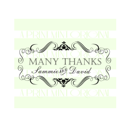 Custom Name Thank You Wedding Self-inking or Rubber Stamp