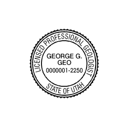 Utah Licensed Professional Geologist Seal
