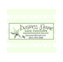 Custom Star Fish Business Card Stamp- Sea Shell Stamp
