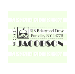 Dog Custom Return Address Self-inking or Rubber Stamp