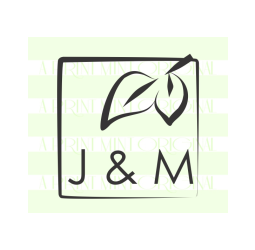 Initials Wedding Square- Custom Leaf and  Self Inking and Rubber Stamp