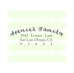 Custom Return Address Self inking or Rubber Stamp- Calligraphy Address Stamp