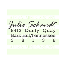 Custom Return Address Name Stamp- Personalized Self-inking or Rubber Stamp