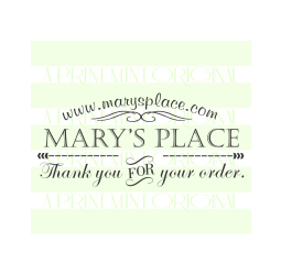 Custom Business Card- Thank You for Your Order Etsy Shop Stamp