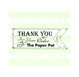 Business Card Stamp Banner Thank You Stamp