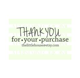 Thank You For Your Purchase Handwriting Business Card Stamp