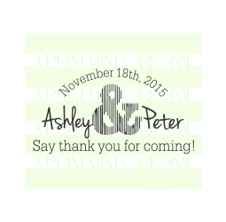 Custom Wedding Thank You For Coming  Self-inking or Rubber  Stamp