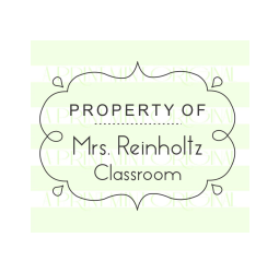 Property of - From the Classroom of Custom Book Doodle Stamp