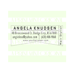 Custom Modern Business Card Self-inking or Rubber Stamp