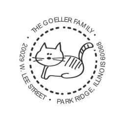 Custom Cat Address Return Address Stamp