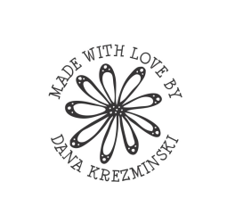 Made With Love Flower Monogram Stamp